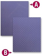 "Spellbinders M-Bossabilities (Embossing Folder) - Grand Dainty Dots (8.25""x11.75"")"