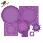 Spellbinders Nestabilities Majestic Elements Dies - Imperial Gold Die Templates - Circles One