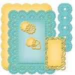 Spellbinders Nestabilities Card Creator Dies - A2 Floral Ribbon Threader