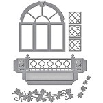 Spellbinders - Designer Die - Decorative Flower Box Window (by Stacey Caron Designs)