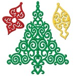 Spellbinders - Shapeabilities Dies - 2012 Holiday Tree