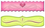 Spellbinders-Piercabilities Dies-Ric Rac Scalloped