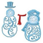 Spellbinders - Shapeabilities Dies - Mr & Mrs Snowman