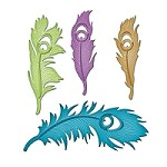 Spellbinders - Shapeabilities dies - Peacock Feathers