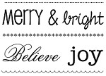 SRM - Clear Stamps - Big Merry & Bright