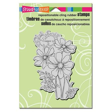 Stampendous - Cling Mounted Rubber Stamp - Cosmos Spray
