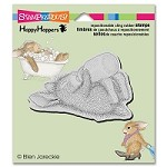 Stampendous - Cling Mounted Rubber Stamp - House Mouse Happy Hopper Bottle Bunny