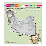 Stampendous - Cling Mounted Rubber Stamp - House Mouse Vet Visit