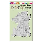 Stampendous - Cling Mounted Rubber Stamp - House Mouse Dog Wash