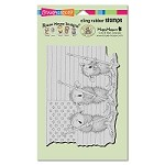 Stampendous - Cling Mounted Rubber Stamp - House Mouse Patriotic Painters