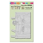 Stampendous - Cling Mounted Rubber Stamp - House Mouse Hanging Jeans