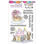 Stampendous Perfectly Clear Stamp - House Mouse Mice Wishes