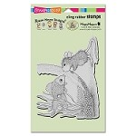 Stampendous Cling Mounted Rubber Stamps - House Mouse Designs - Fishy Kiss