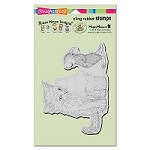 Stampendous Cling Mounted Rubber Stamps - House Mouse Designs - Ice Cream Kitty