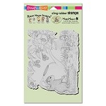 Stampendous Cling Mounted Rubber Stamps - House Mouse Designs - Squirrel Showers