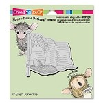 Stampendous Cling Mounted Rubber Stamps - House Mouse Designs - Flag Flyer