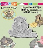 Stampendous Cling Mounted Rubber Stamps - House Mouse Gruffies Bear Blocks