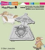 Stampendous Cling Mounted Rubber Stamps - House Mouse Happy Hopper Umbrella Nap