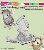 Stampendous Cling Mounted Rubber Stamps - House Mouse School Supplies