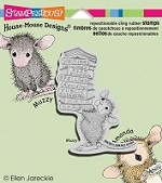 Stampendous Cling Mounted Rubber Stamps - House Mouse Stack of Books