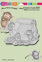 Stampendous Cling Mounted Rubber Stamp - House Mouse - Caffeine High