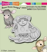 Stampendous Cling Mounted Rubber Stamps - House Mouse Designs - Trick or Cheese