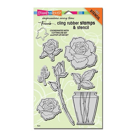 Stampendous Cling Mounted Rubber Stamps - Rose Bouquet Stamp Set