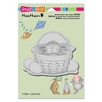 Stampendous - Cling Mounted Rubber Stamp - House Mouse Happy Hopper Bunny Basket