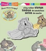 Stampendous Cling Mounted Rubber Stamp - House Mouse Gruffies Big Yawn