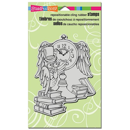 Stampendous Cling Mounted Rubber Stamps - Owl Clock