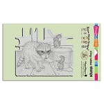 Stampendous Cling Mounted Rubber Stamps - House Mouse Designs - Ice Cream Bandit