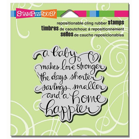 Stampendous Cling Mounted Rubber Stamps - Baby Makes