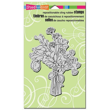 Stampendous Cling Mounted Rubber Stamps - Sweet Pea Bouquet