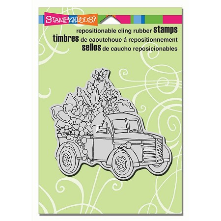 Stampendous Cling Mounted Rubber Stamps - Succulent Truck