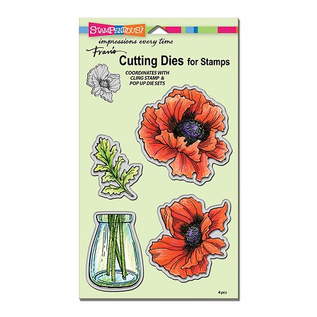 Stampendous - Cutting Die - Pretty Poppies Cutting Die Set