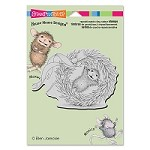 Stampendous Cling Mounted Rubber Stamps - House Mouse Designs - Wreath Rolling