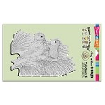 Stampendous Cling Mounted Rubber Stamps - House Mouse Designs - Birdie Bow
