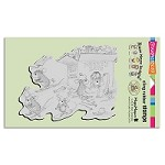 Stampendous Cling Mounted Rubber Stamps - House Mouse Designs - Hat Box