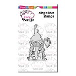 Stampendous Cling Mounted Rubber Stamps - Pink Your Life Mama Christmas