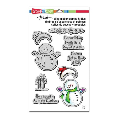 Stampendous - Smiling Snowman Cling Stamps and Dies Set