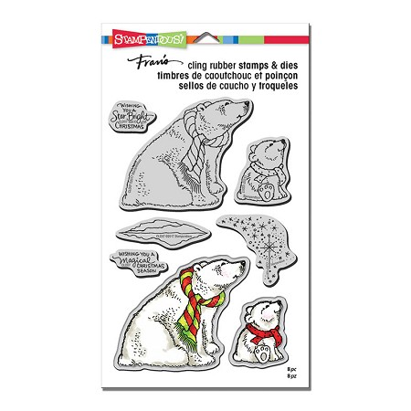 Stampendous - Polar Bears Cling Stamps and Dies Set