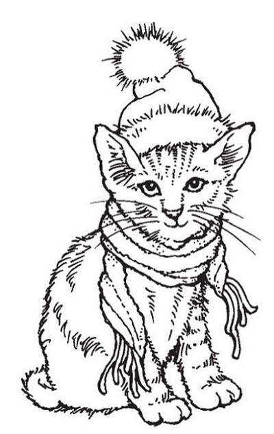 Stampendous Cling Mounted Rubber Stamp Bundled Kitty