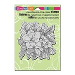 Stampendous Cling Mounted Rubber Stamps - Magnolia Rose