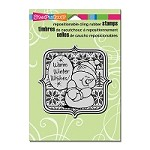 Stampendous Cling Mounted Rubber Stamps - Sweater Snowman