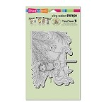 Stampendous Cling Mounted Rubber Stamps - House Mouse Carousel Ornament