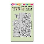 Stampendous Cling Mounted Rubber Stamps - House Mouse Fence Falling
