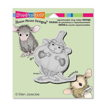 Stampendous Cling Mounted Rubber Stamps - House Mouse Pumpkin Mouse