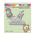 Stampendous Cling Mounted Rubber Stamps - House Mouse Leaf Plunge