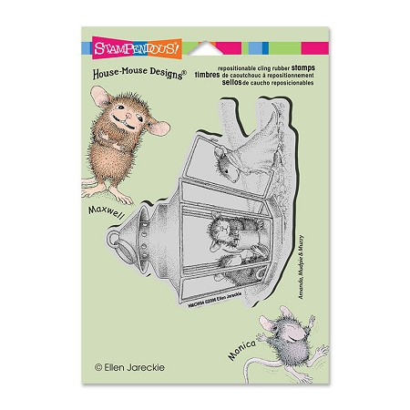 Stampendous Cling Mounted Rubber Stamps - House Mouse Lantern Warmth