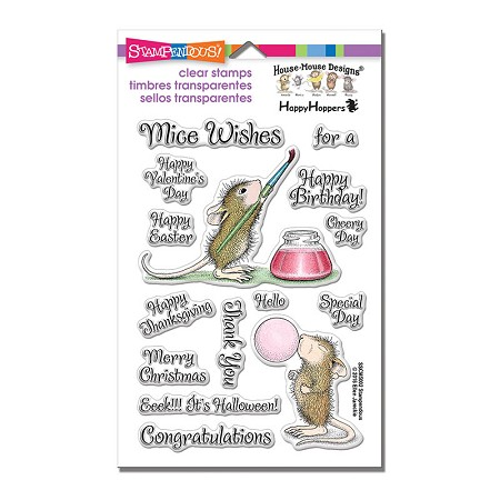 Stampendous Perfectly Clear Stamp - House Mouse Painted Wishes